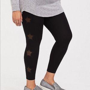 Nwt Torrid size 1 Star Mesh Leggings